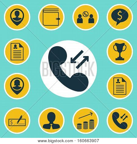 Set Of Human Resources Icons On Phone Conference, Tournament And Manager Topics. Editable Vector Illustration. Includes Conference, Female, Opinion And More Vector Icons.