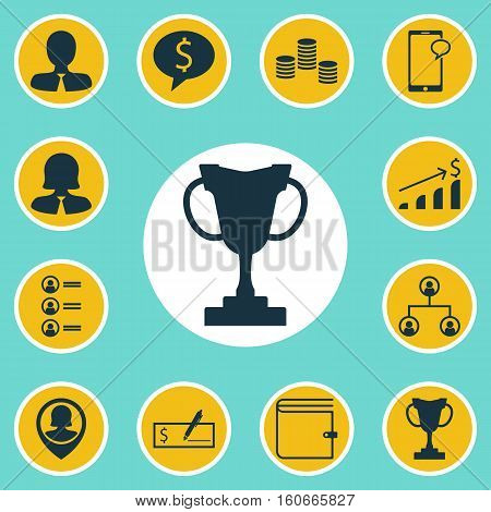 Set Of Human Resources Icons On Business Woman, Money And Bank Payment Topics. Editable Vector Illustration. Includes Dollar, Female, Structure And More Vector Icons.