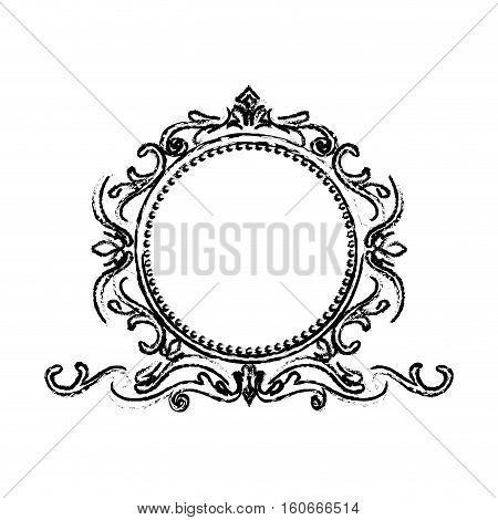 Ornamental border insignia icon vector illustration graphic design