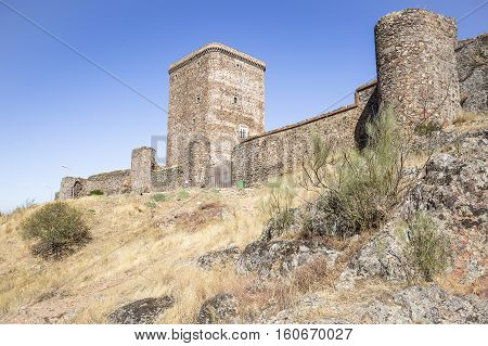 castle in Feria town, province of Badajoz, Spain