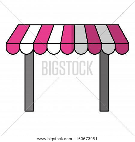 store awning icon over white background. colorful design. vector illustration