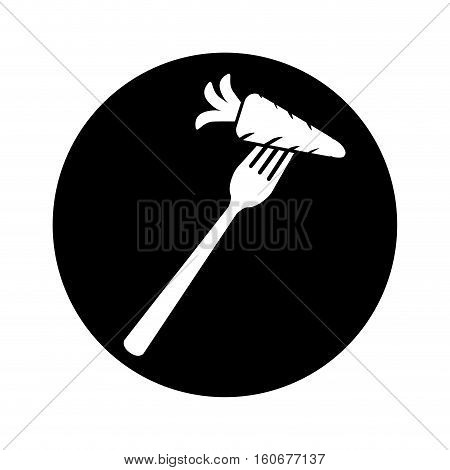 cutlery emblem icon image vector illustration design