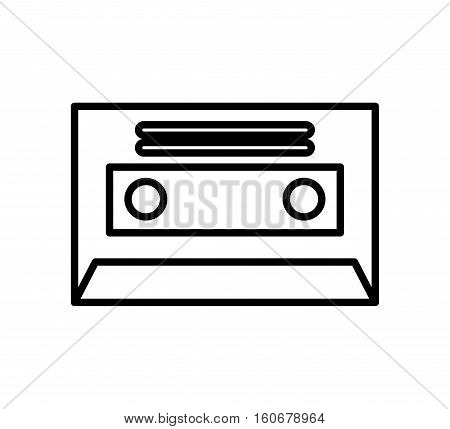 cassette retro isolated icon vector illustration design