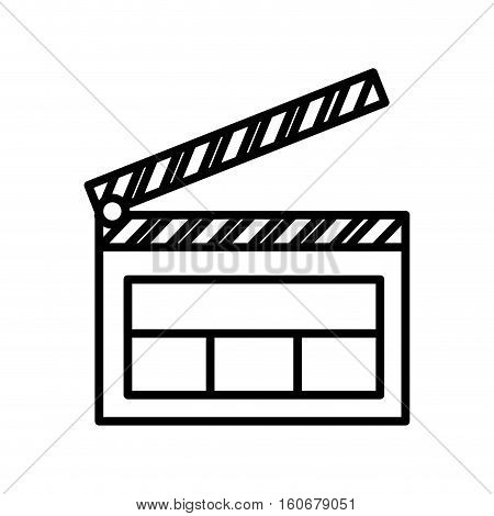 clapper board isolated icon vector illustration design