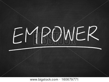 empower concept word text on blackboard background