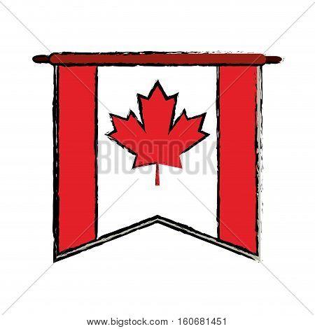 flag pennant canadian sketch vector illustration eps 10