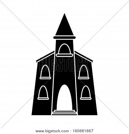 church building religious christian pictogram vector illustration eps 10