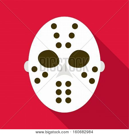 Hockey goalie mask icon. Flat illustration of hockey goalie mask vector icon for web design
