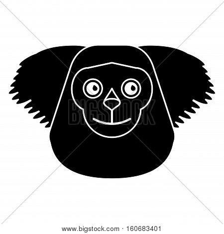 black bearded saki animal brazil pictogram vector illustration eps 10