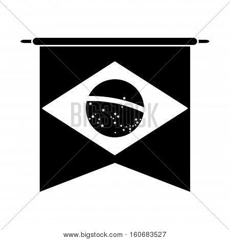 brasilian flag hanging symbol pictogram vector illustration eps 10