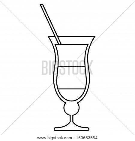 cocktail drink traditional brazil outline vector illustration eps 10