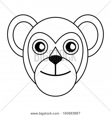 breasted capuchin primate brazil fauna outline vector illustration eps 10