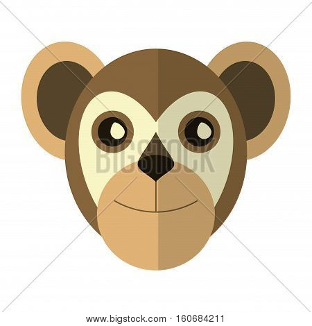 breasted capuchin primate brazil fauna vector illustration eps 10
