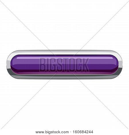 Violet rectangular button icon. Cartoon illustration of rectangular button vector icon for web design