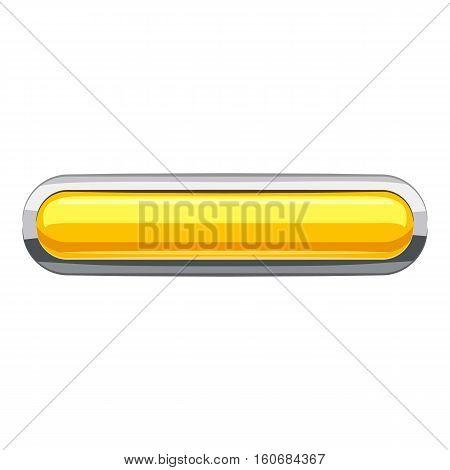 Yellow rectangular button icon. Cartoon illustration of rectangular button vector icon for web design