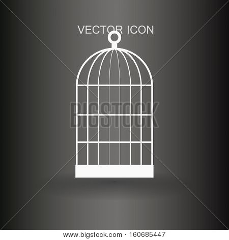 cage life and transport of birds vector icon