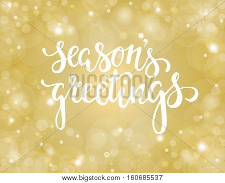 Handdrawn lettering season's greetings. design for holiday greeting cards and invitations of the Merry Christmas and Happy New Year and seasonal holidays. vector