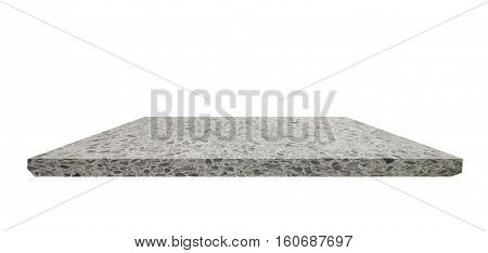 empty shelf, Terrazzo floor beautiful on white background