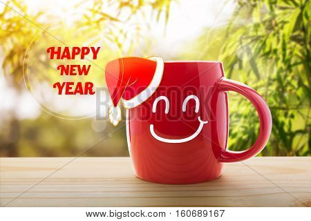 Happy new year, Happy new year or Have a happy day message concept