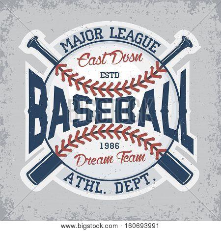 Vintage t-shirt graphic design,  grange print stamp, baseball typography emblem, sports logo Creative design, Vector