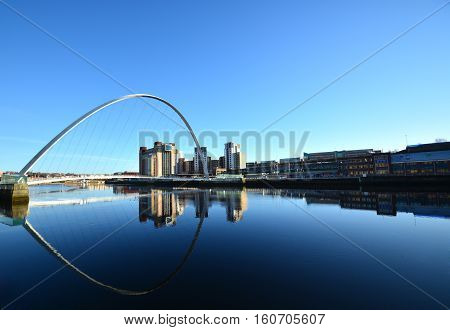 Gates head Millennium Bridge at morning ,Newcastle,January 4,2016