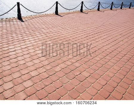 cobbled road as background, texture stone pattern