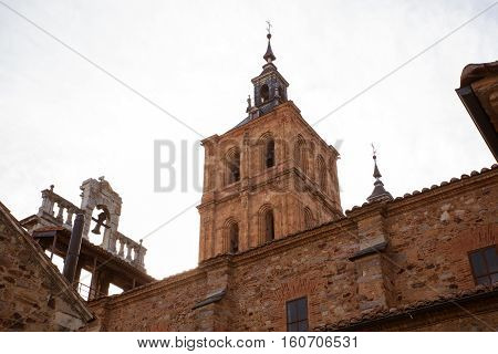 View of the Belltower of the Astorga cathedral Spain