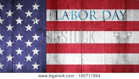 Labor day text against white background with vignette