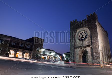 PORTOMARIN SPAIN - AUGUST 12: View of the Church of Saint John of Portomarin on August 12 2016