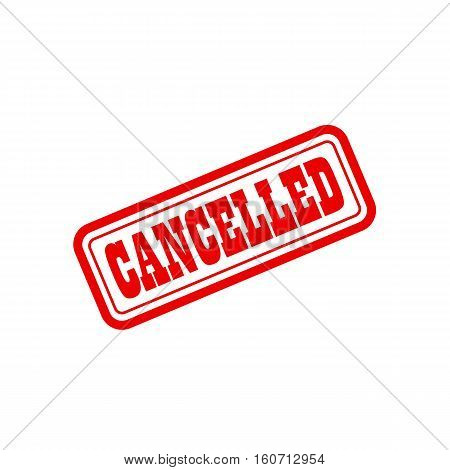 cancelled grunge vintage stamp vector seal. Color is easily changed.