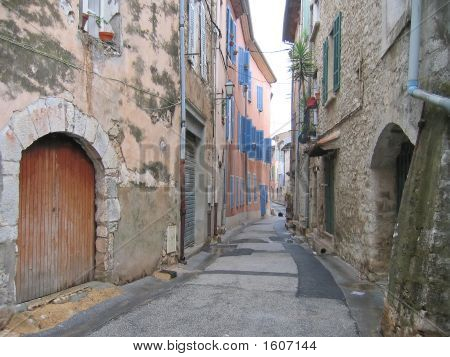 Provencal Street With Old House, Saint Maximin La Sainte Baume, Azur Coast, South Of France