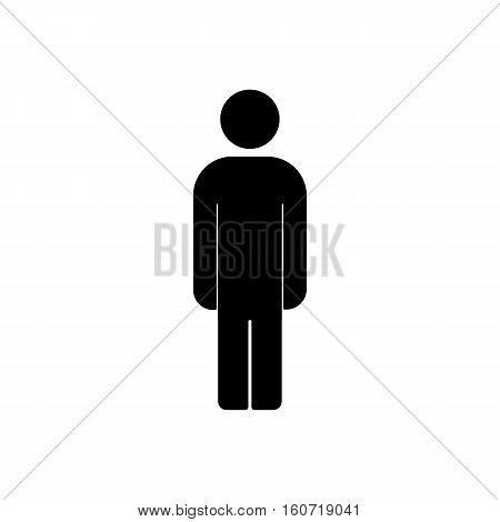 Human male sign icon. Man Person symbol. Male toilet. Flat style. EPS 10