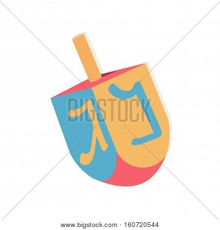 Dreidel with letters for Hanukkah. Vector illustration.