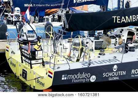 Boat Brunel in Cape Town. November 15, 2014 - Cape Town, South Africa, Abu Dhabi Ocean Racing