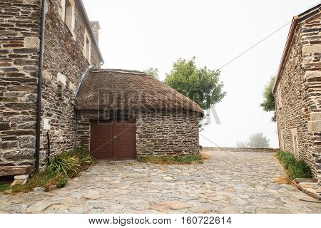 The palloza also known as pallouza or pallaza is a traditional dwelling of Cebreiro and also the Serra dos Ancares of northwest Spain