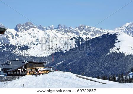 Ski Resort In The Austrian Alps