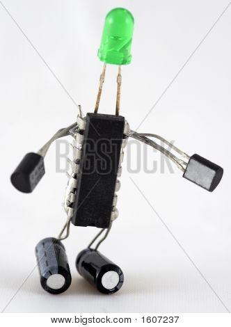 Large Electroman Green Head