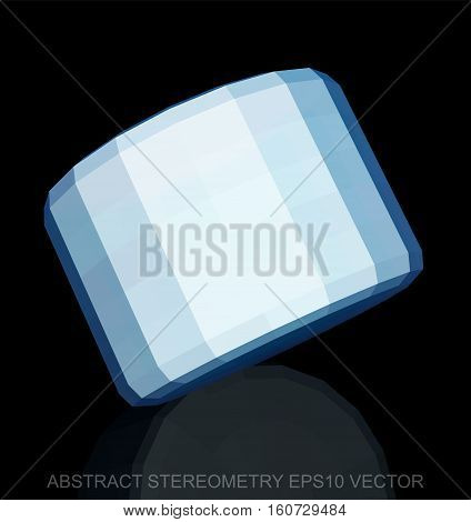 Abstract stereometry: low poly White Cylinder. 3D polygonal object, EPS 10, vector illustration.