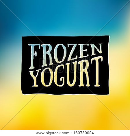 Frozen Yogurt Design Badges and Labels. Vector Illustration. Ice Cream Shop Logo design element. Vintage Emblem Creamery. Summer time banners