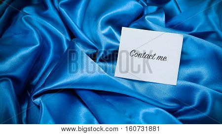 Blue Silk Cloth, A Note On The Paper