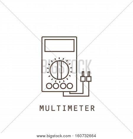 Icon multimeter on white background. Vector illustration.