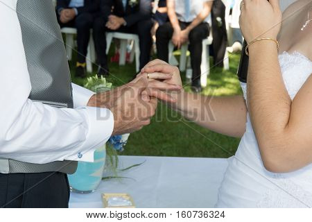 Marriage Engagement, The Hands Of Groom And Bride