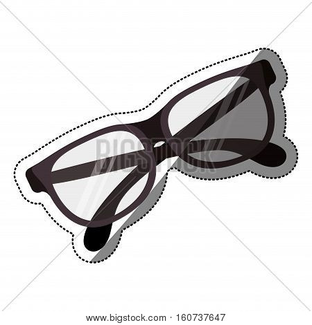 Glasses icon. Fashion style accessory eyesight and optical theme. Isolated design. Vector illustration