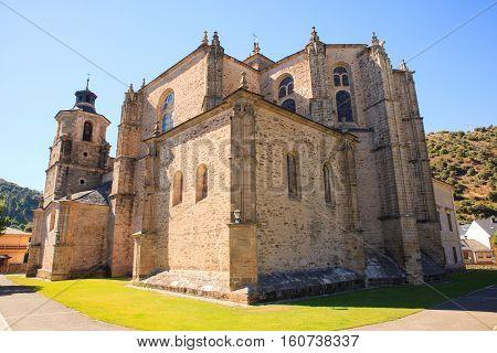 View of the Collegiate church of Santa Maria in Villafranca del Bierzo Spain