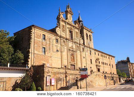 View of the San Nicolas El Real Monastery in Villafranca del Bierzo Spain