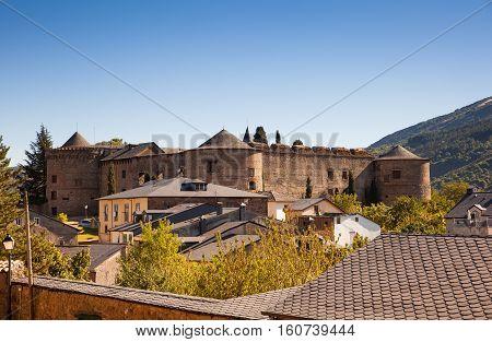 View of the The Villafranca del Bierzo Castle