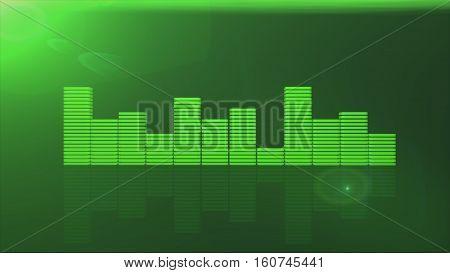 nice green equalizer bars 3d illustration  render