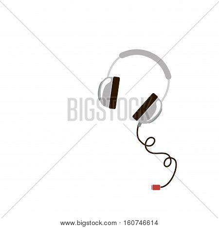 Headphone icon. Device music sound audio and stereo theme. Isolated design. Vector illustration