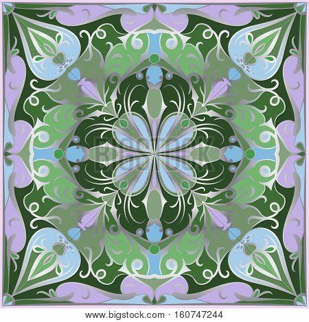 Bright Green Handkerchief
