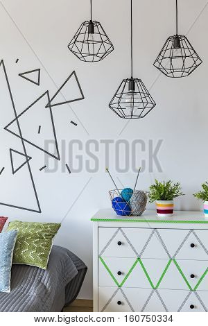 White Wall With Triangle Theme